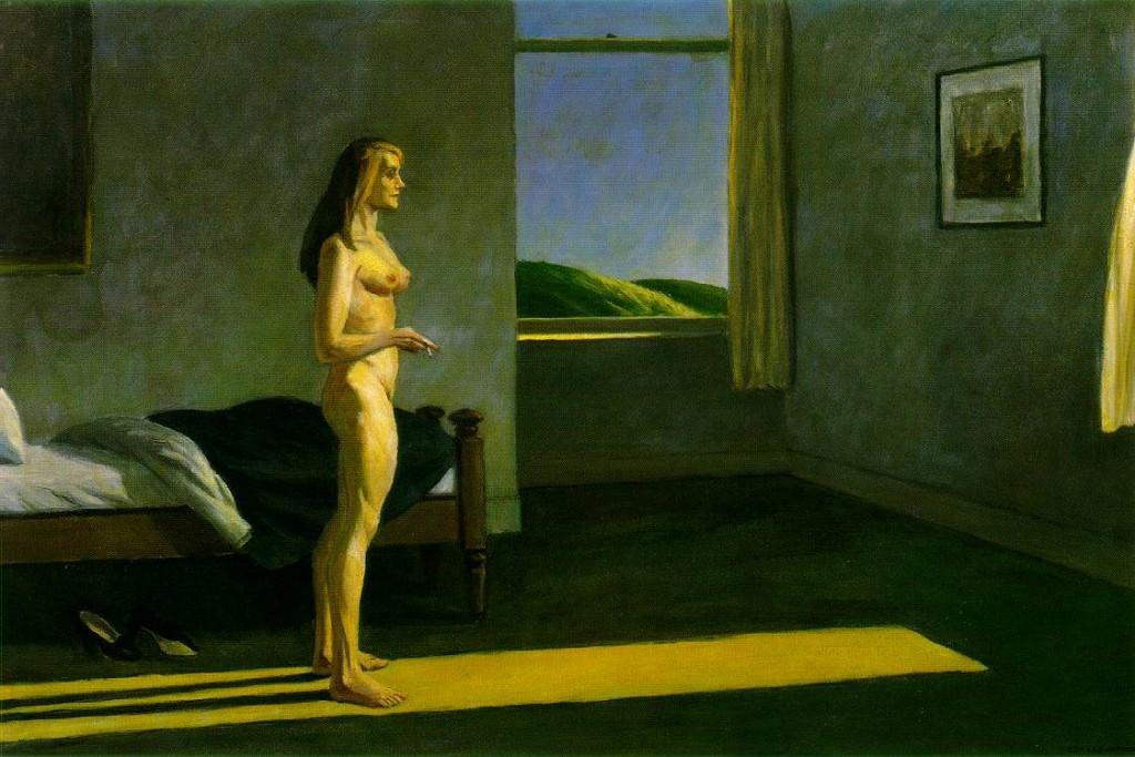 Philippe Parrot : Poème n°25 : Femme dans un rai. dans Poésie hopper_woman_sun