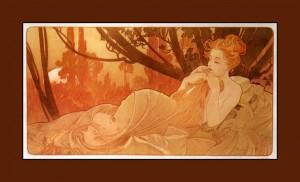 Belle endormie d'Alphonse Mucha