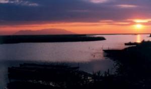 Le Delta d'Evros au coucher du soleil