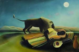 Gitane endormie Douanier Rousseau
