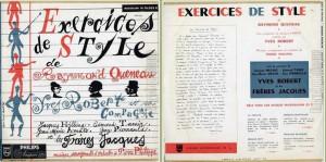Exercice de style pochette disque
