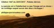 Philippe Parrot : Poème contemporain 239 : Coupable et mortelle pensée