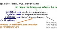 Philippe Parrot : Poème contemporain 411 : Haïkus à la fête